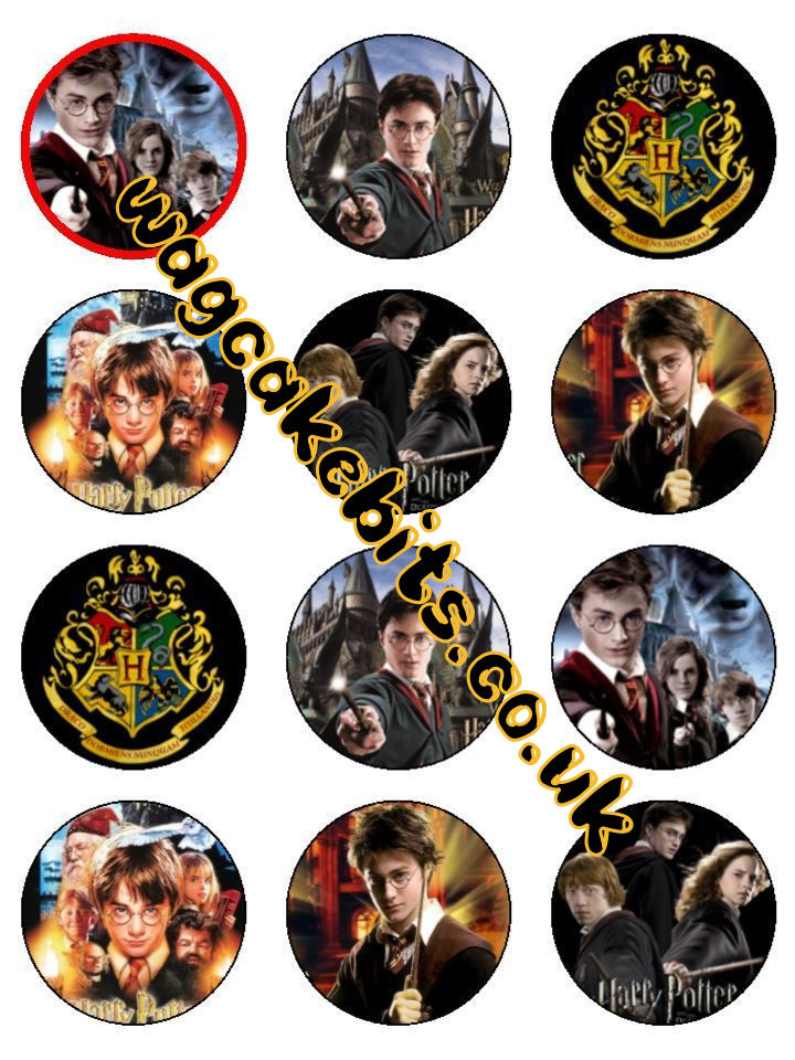 Harry potter cupcake toppers x12 characters