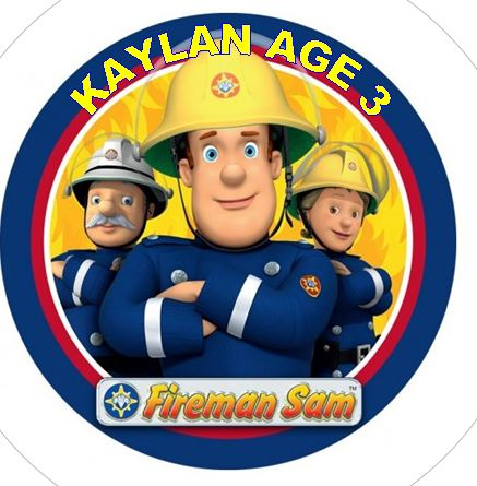 Fireman Sam Cake topper icing or wafer paper sheet