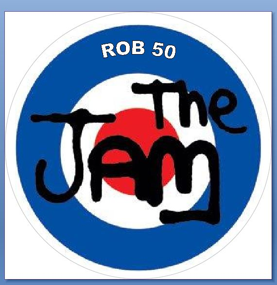 The Jam Mod with name Cake topper