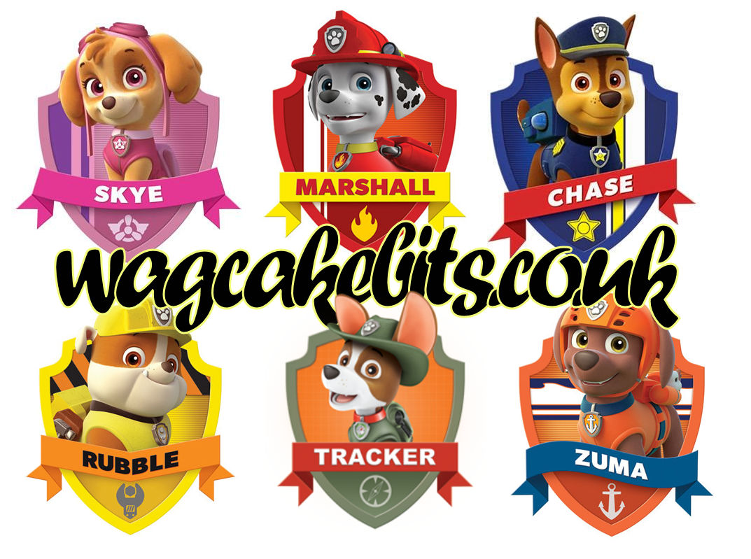 Any paw patrol cake topper choose from 6 Cake toppers