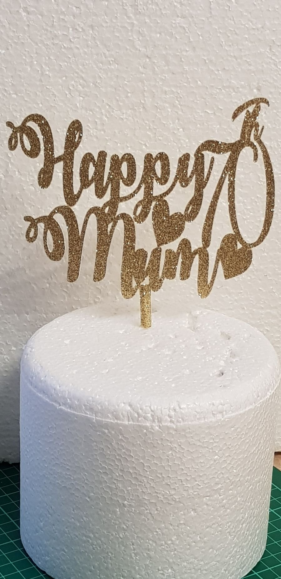 Happy Birthday can add name card topper any color