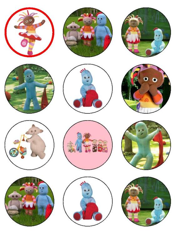 In The Night Garden Cupcake Toppers X 12