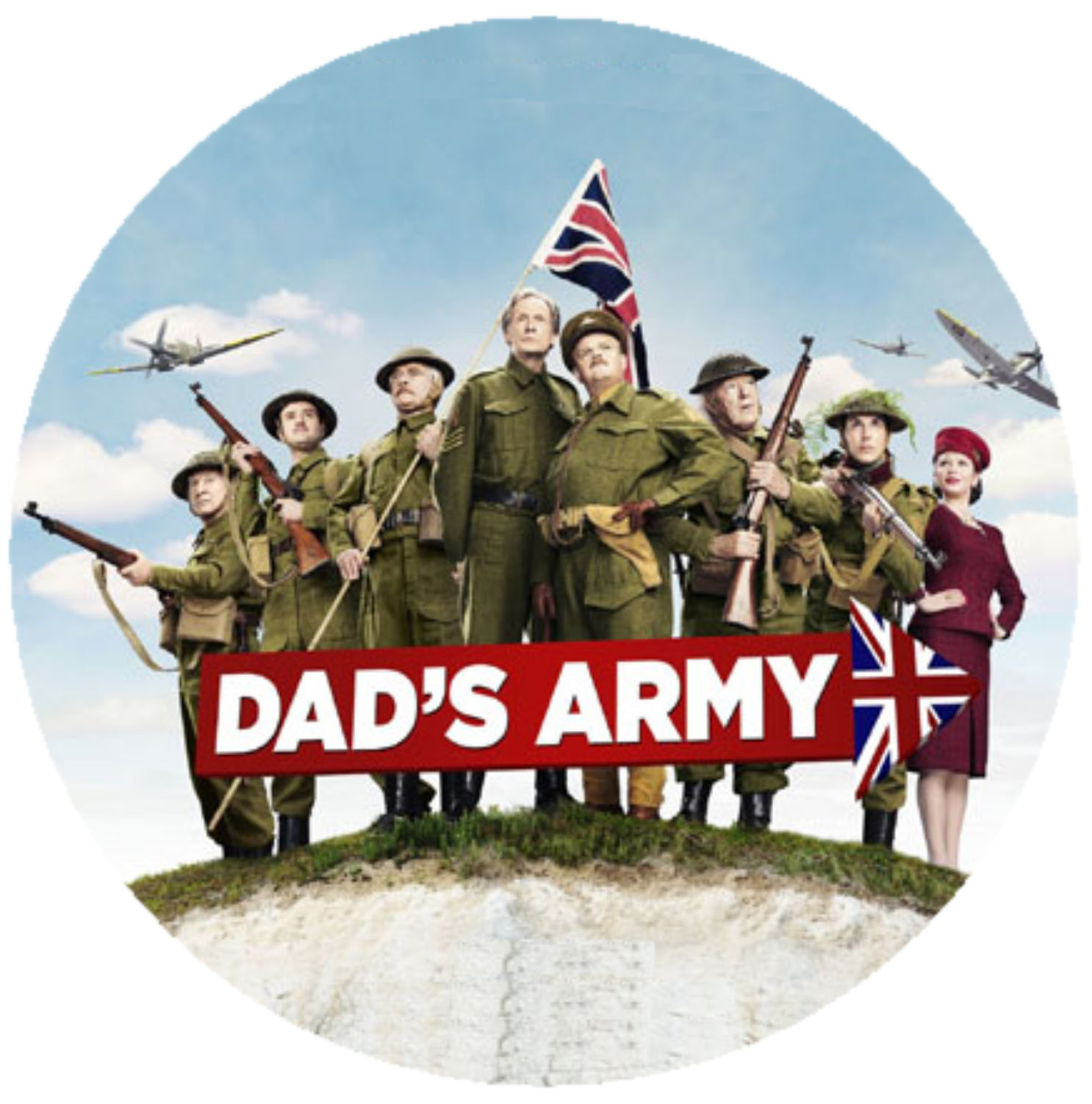 Dads Army Round Cake topper