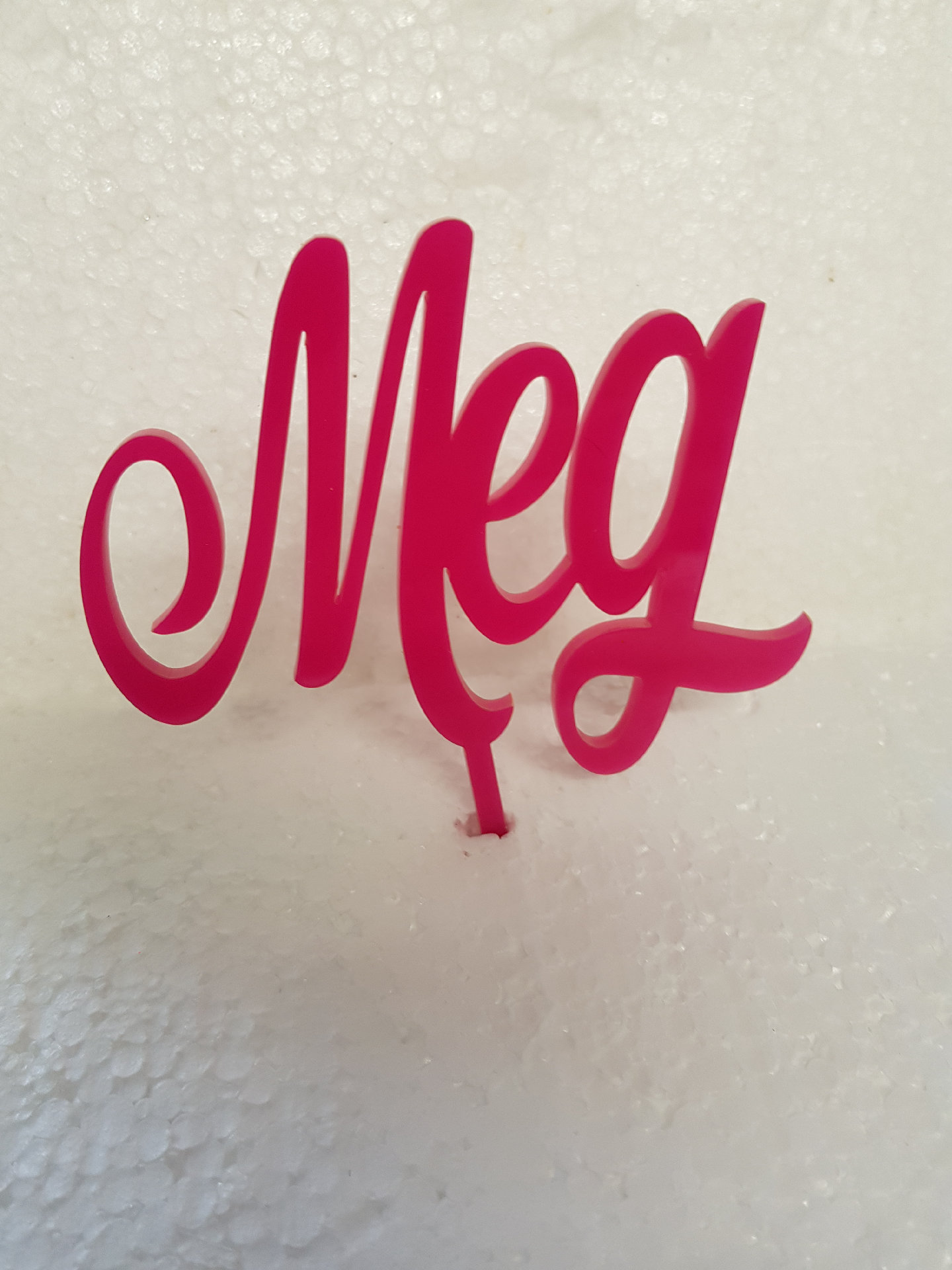 3 letter word acrylic cake topper