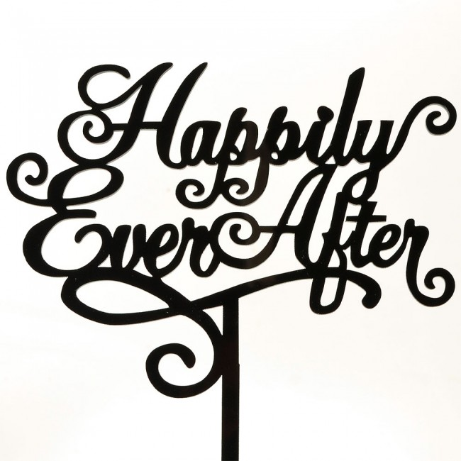 09fad455540 Happily ever after acrylic cake topper