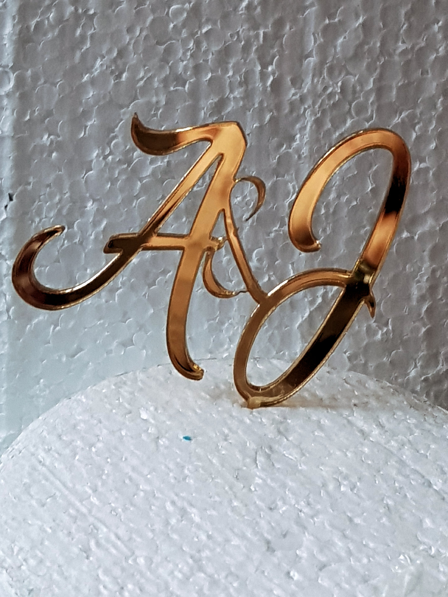 ? & ? choose you're own letters acrylic cake topper