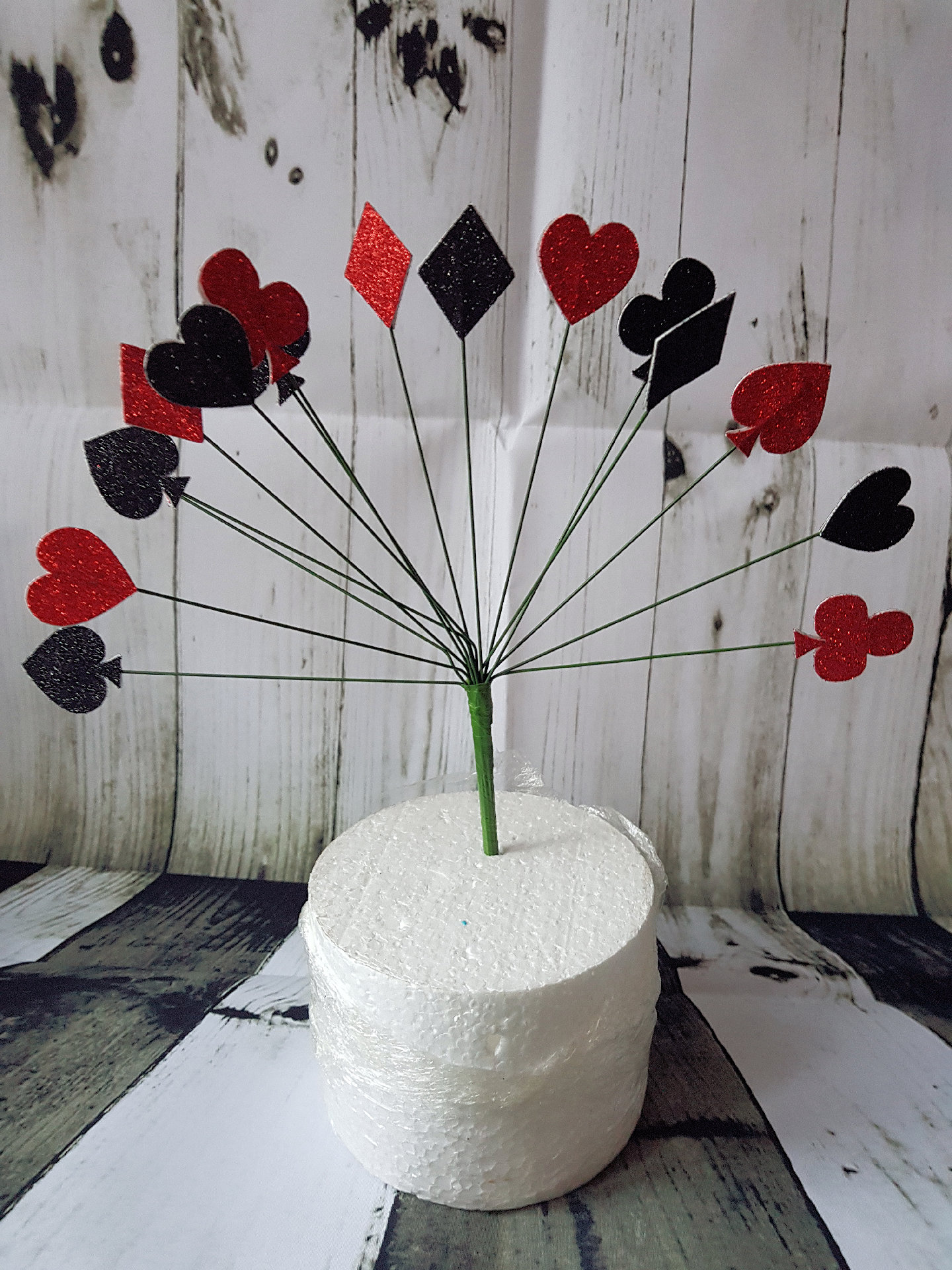 Card Suits shooting topper cake topper