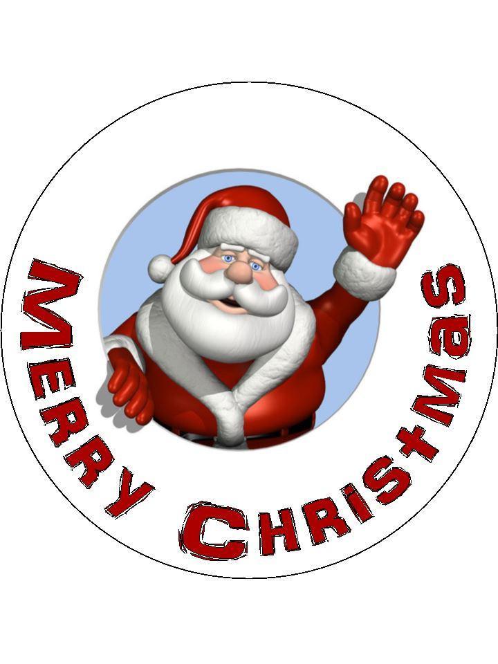 Santa happy Christmas topper