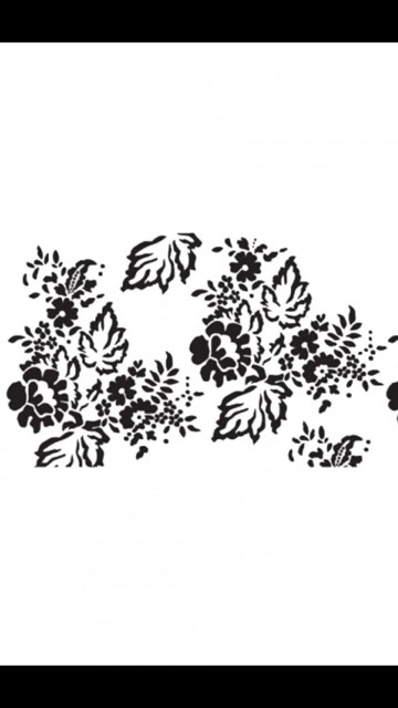 Chantilly Lace Leafy Stencil longer