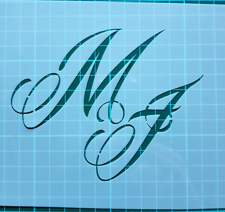 Monogram letter stencils cake decorating