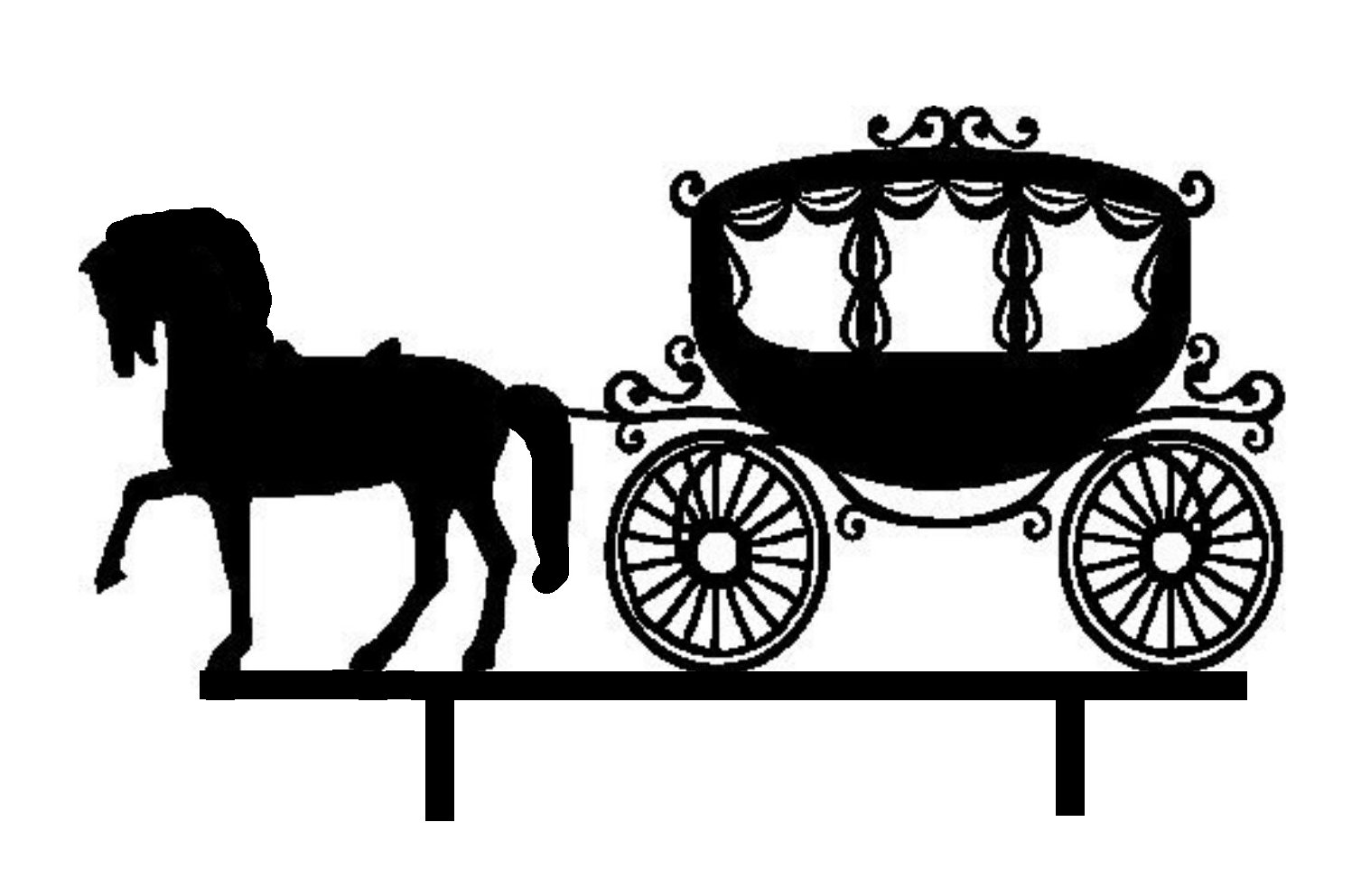 horse and carriage acrylic cake topper