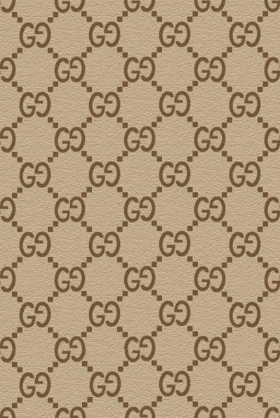 Gucci print brown icing sheet or wafer sheet