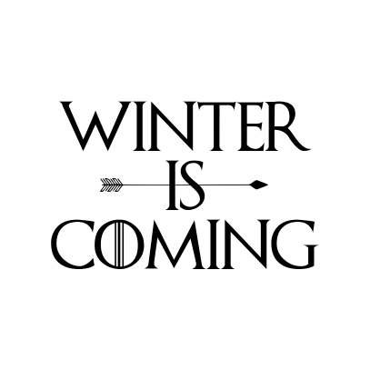 Winter is coming  Cake topper