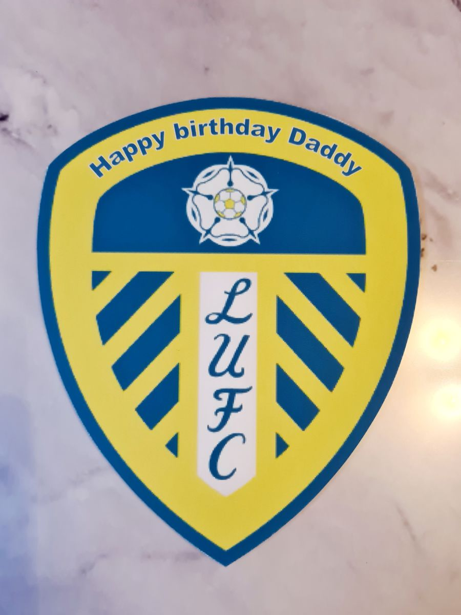 Leeds united football badge cake topper