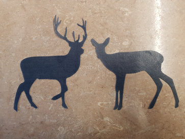 deer and a stag sugar silhouette cut out