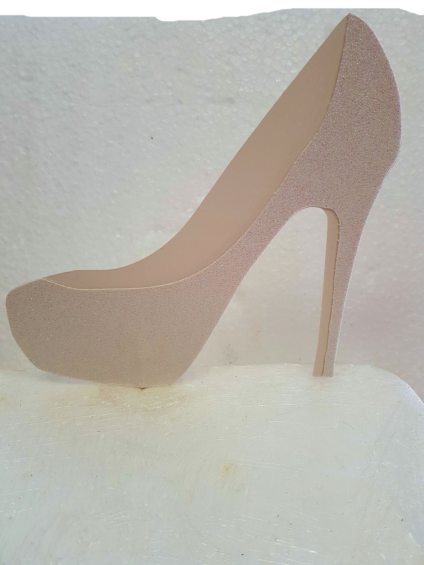 2 tone shoe cake card topper with or without pick