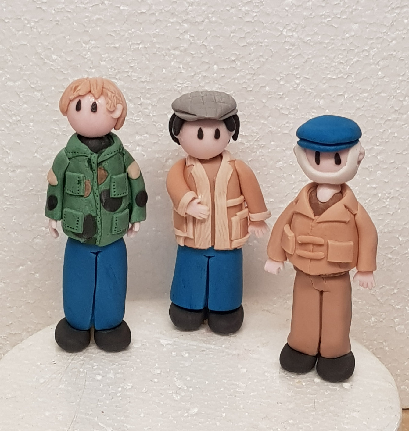 Gumpaste Only fools and horses cake toppers