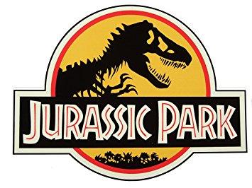 Jurassic park logo icing sheet or sugar sheet
