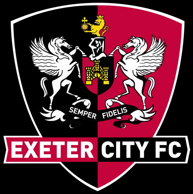 Exeter city logo Cake topper