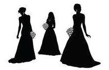 3 brides maids sugar silhouette cut outs