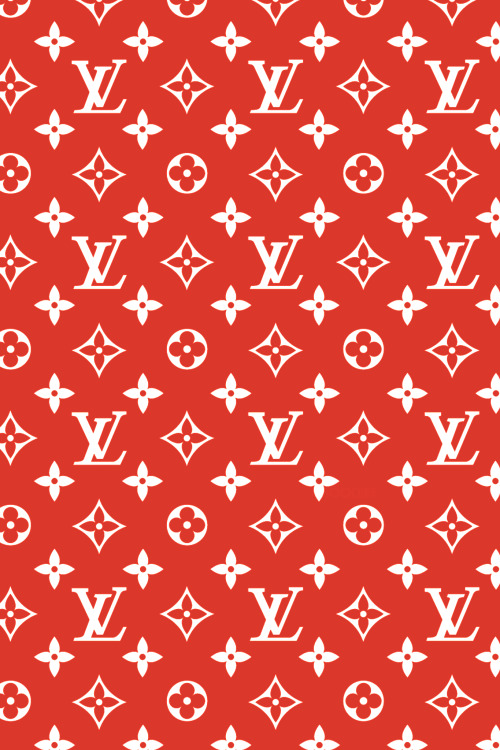 Louis Vuitton red printed sheet for bags and cake covering