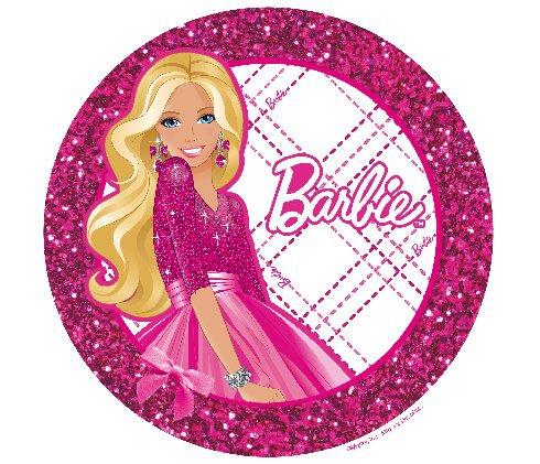 Barbie cake or cupcake toppers icing sheet or sugar sheet