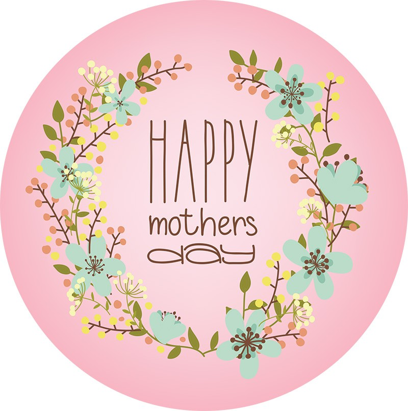 Happy mothers day cake topper icing sheet or sugar sheet