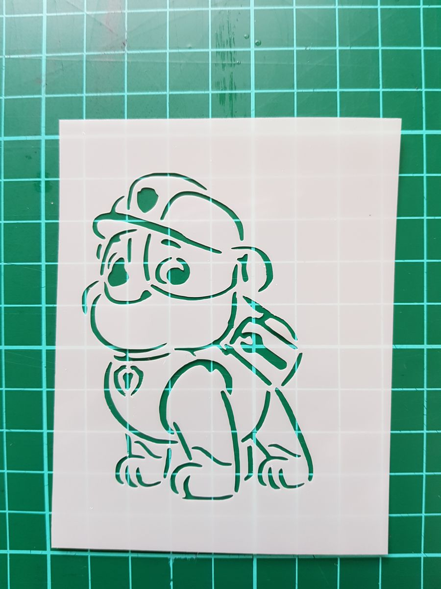 Paw Patrol Rubble Stencil