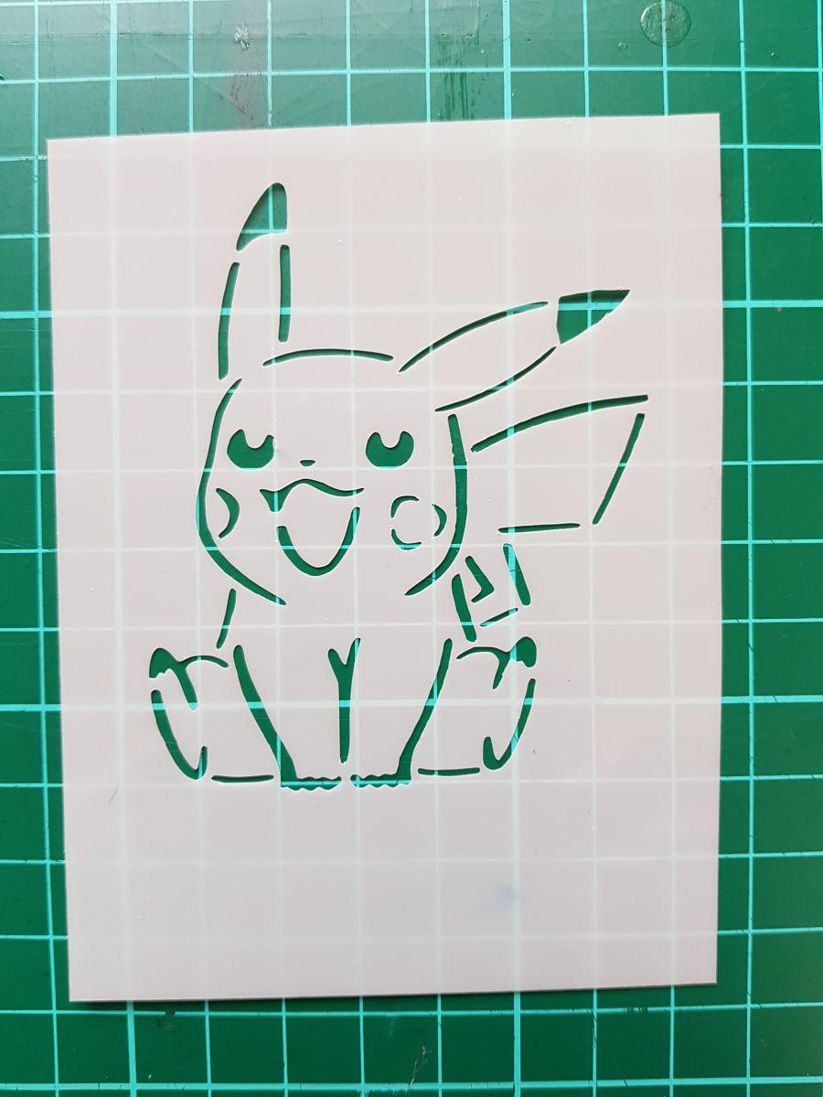 Pikachu Pokemon  stencil