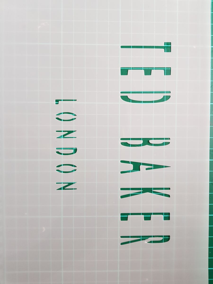 Ted baker wording of london stencil