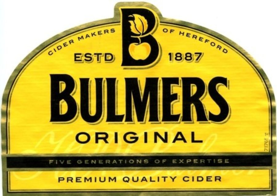 Bulmers original label icing sheet or sugar sheet