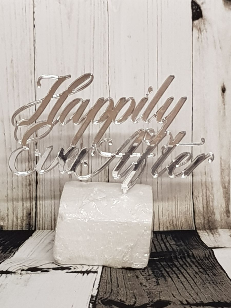 Happily ever after ver 2 acrylic cake topper