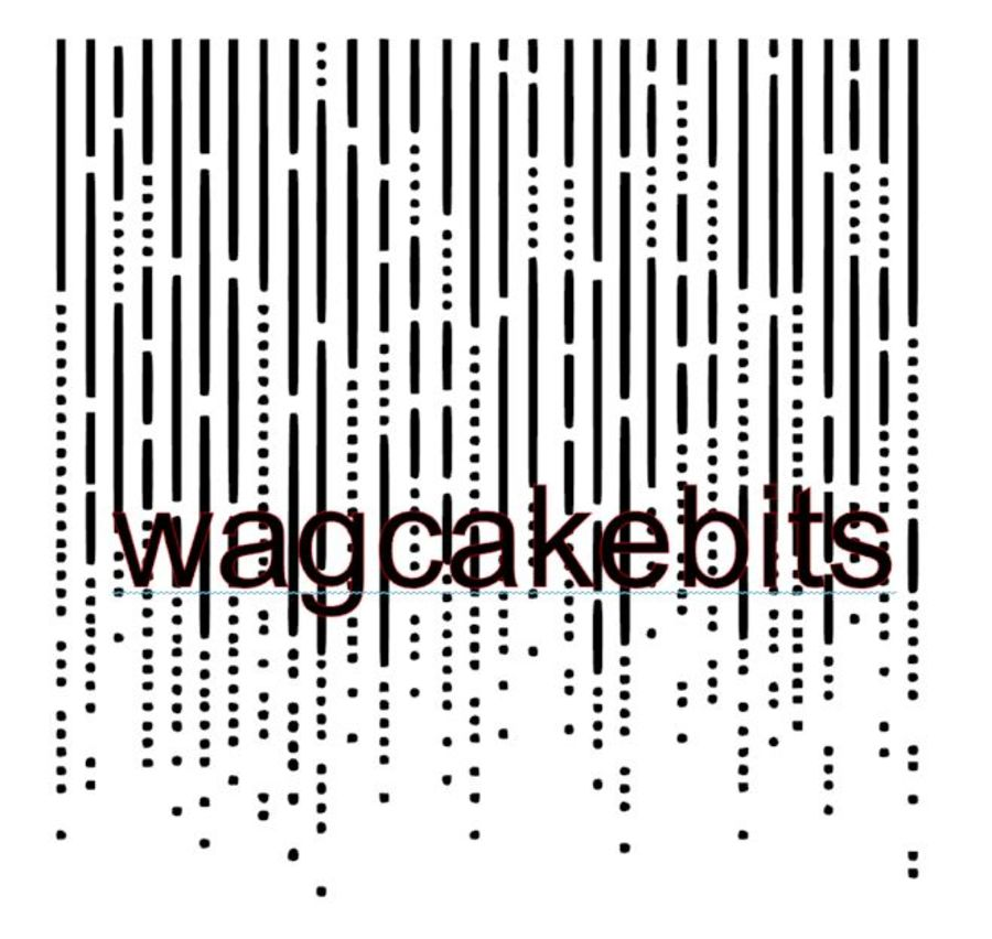 Waterfall Cake Border Stencil