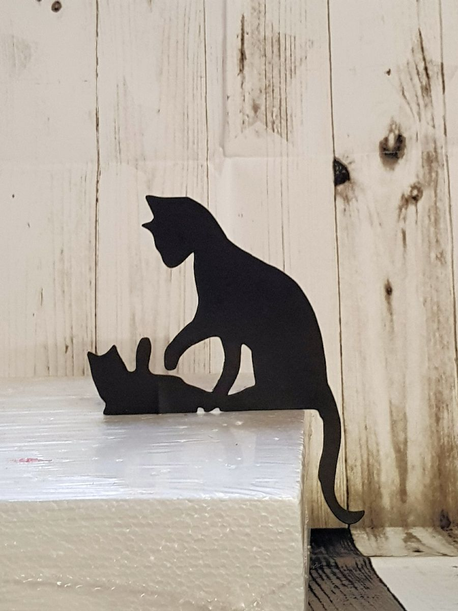 cats playing cake card topper