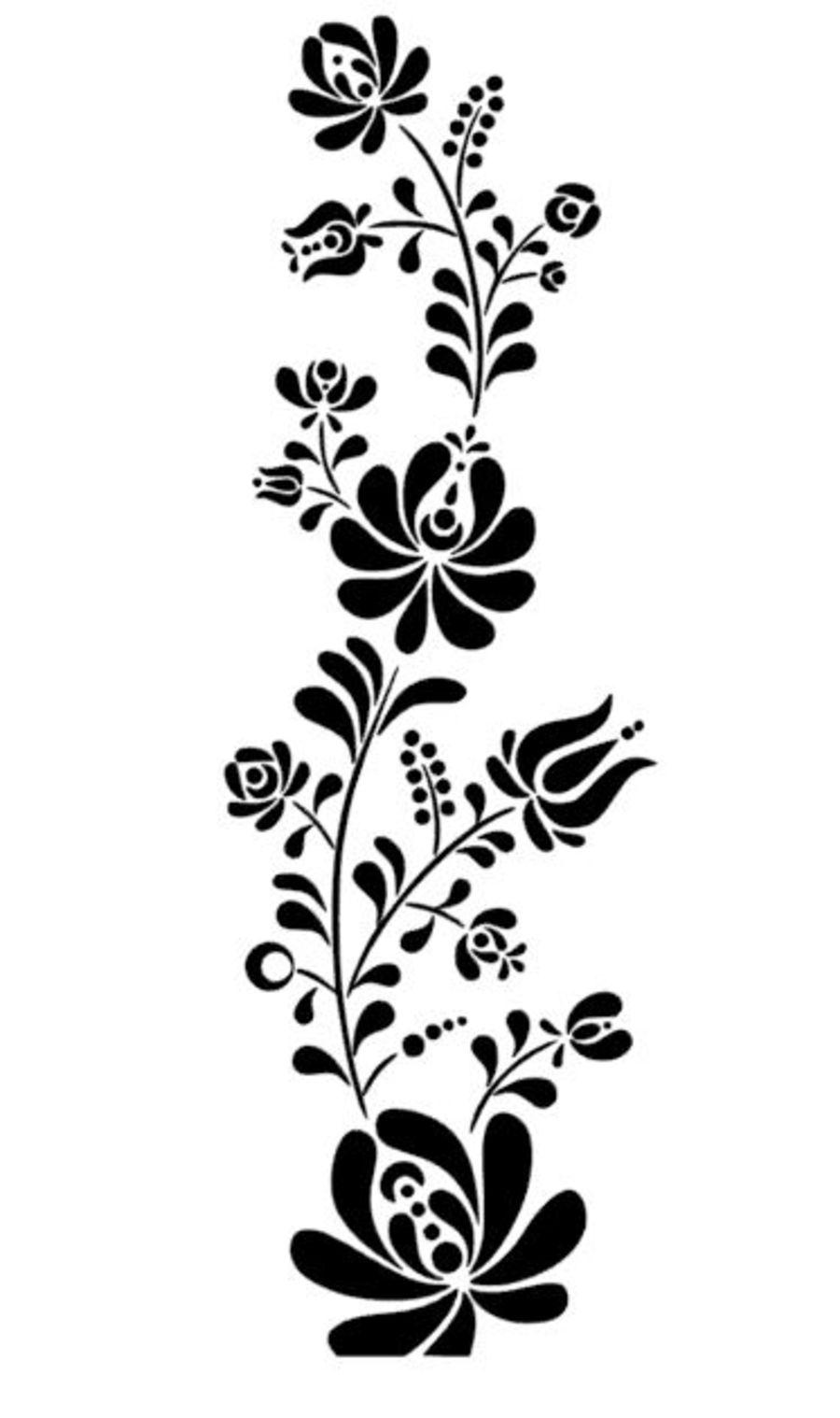 floral design flower stencil