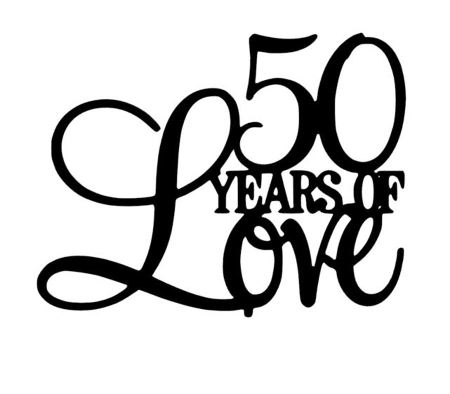 X years of love acrylic cake topper