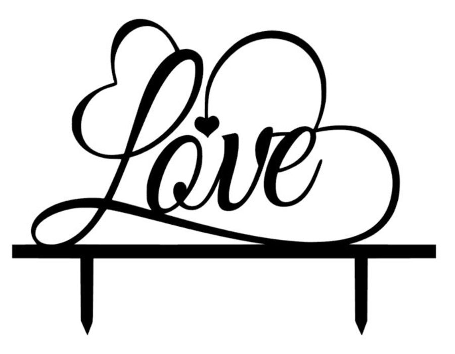 Love whipped acrylic cake topper