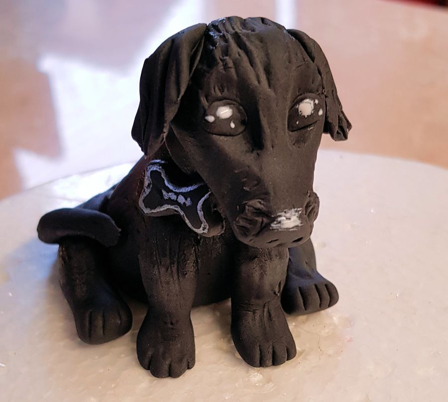 Gumpaste little Dog any colour cake topper