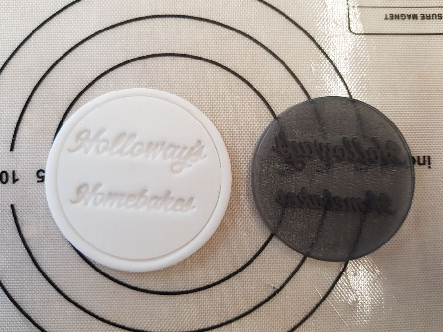 2 inch round stamps, can be up to 20 letters on each stamp