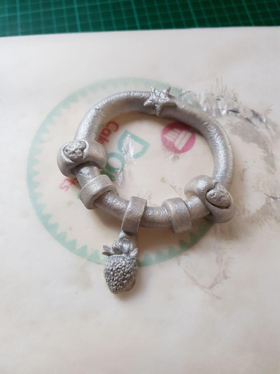 Gumpaste Charm bracelet handmade gumpaste