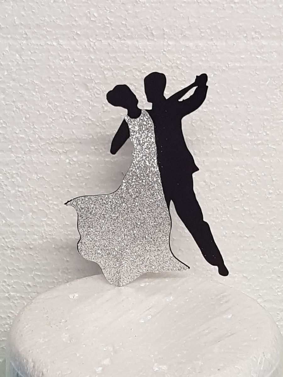 Dancers cake card topper double sided