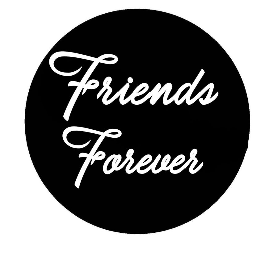 Friends forever acrylic stamp for fondant