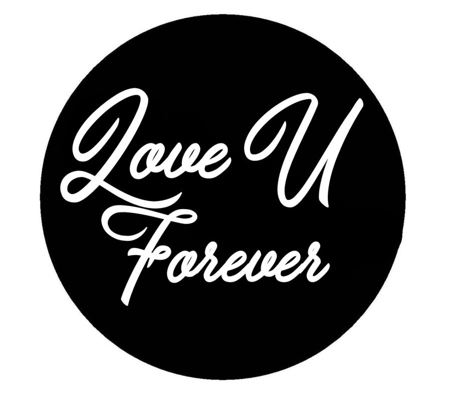 love U forever acrylic stamp for fondant