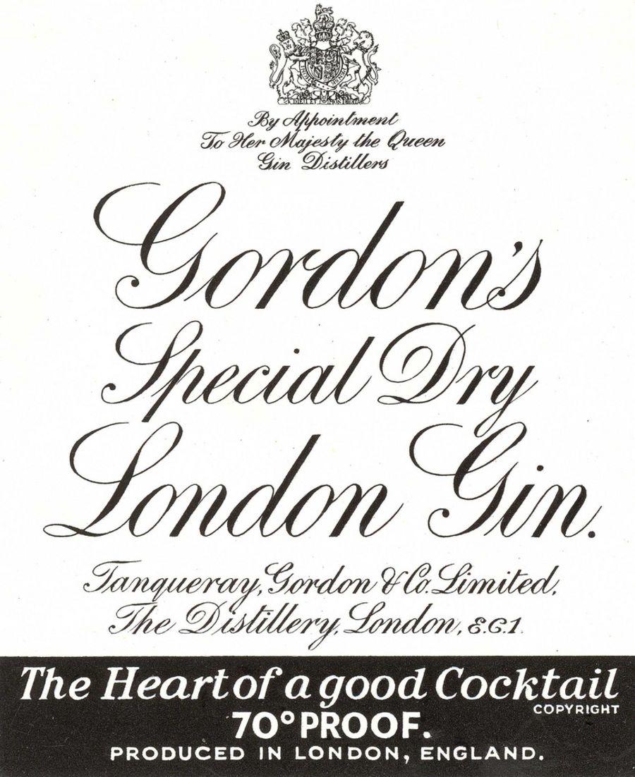 Gordon's gin bottle label icing sheet or sugar sheet