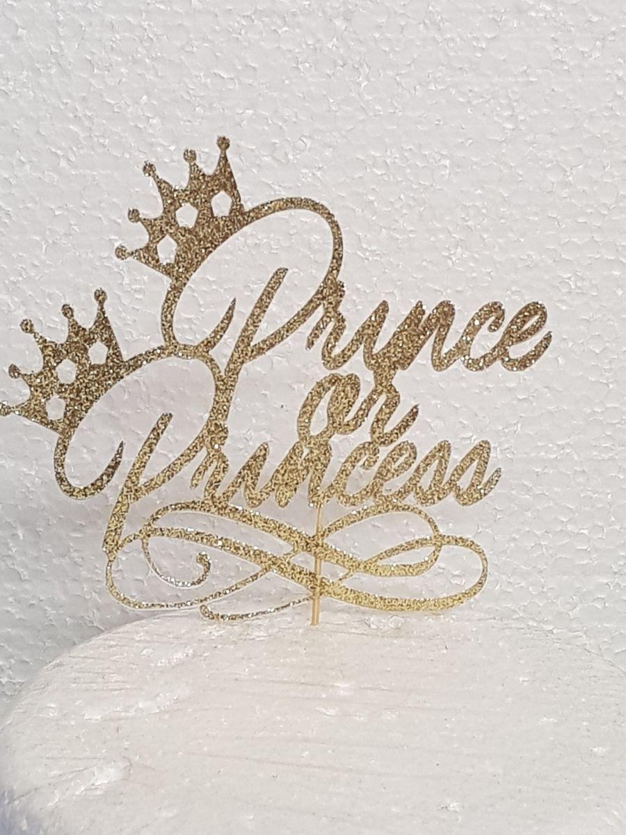 Prince Or Princess cake card topper