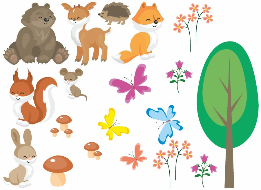 Woodland animals Sugar Icing Sheet