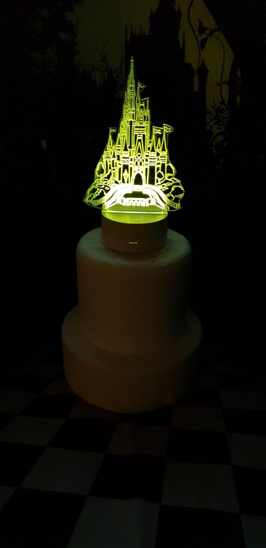 Fairy tail castle light up cake topper night light