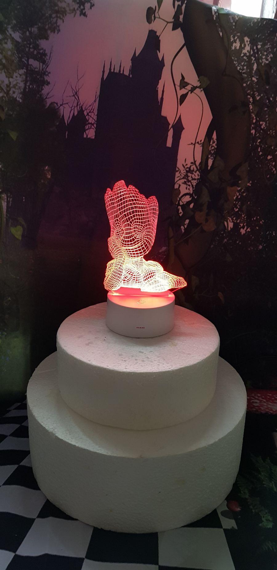 groot light up cake topper night light