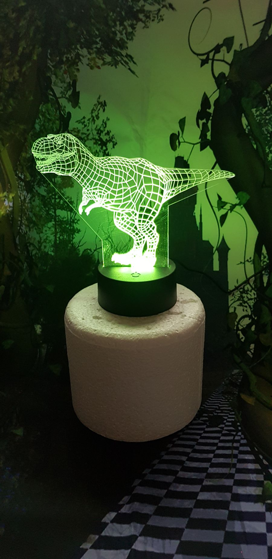 Dinosaur light up cake topper night light