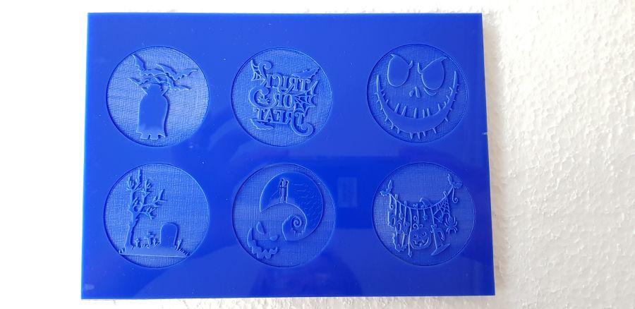 Halloween x 6 cupcake fondant boss stamps